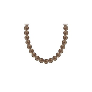 LoveBrightJewelry Akoya Cultured Pearl Necklace 14k Yellow Gold 4 Mm