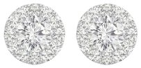LoveBrightJewelry 3.00 Carat Cubic Zirconia Push Back 925 Silver Earrings