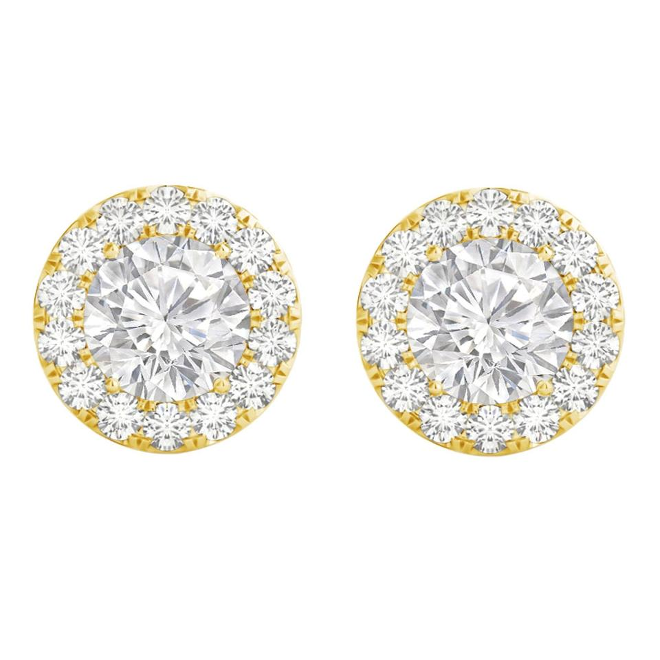 Lovebrightjewelry 300 Carat Cz Halo Stud Push Back Earrings For Her