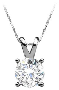 LoveBrightJewelry 4 Prong Set Natural Diamond 14K White Gold Pendant