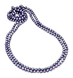 LoveBrightJewelry 80 Inches Freshwater Cultured Lavender Pearl Strand Necklace 8.5MM