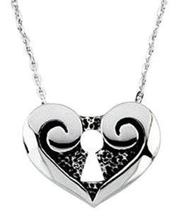 LoveBrightJewelry 925 Sterling Silver The Covenant Daughter Purity Heart Pendant 13.00X17.25MM with 18 Inch Chain