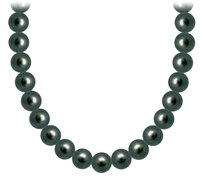 LoveBrightJewelry Akoya Cultured Pearl Necklace 14K White Gold 4 MM