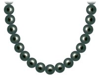 LoveBrightJewelry Akoya Cultured Pearl Necklace 14K White Gold 6 MM