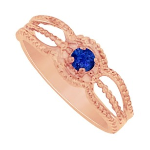 LoveBrightJewelry Amazingly Designed Sapphire Mother Ring in Rose Gold