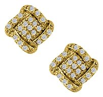 LoveBrightJewelry April Birthstone Cubic Zirconia Squarish Earrings in 18K Yellow Gold Vermeil 0.50 CT TGW