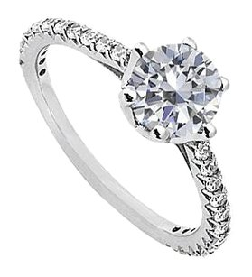 LoveBrightJewelry April Birthstone Solitaire Cubic Zirconia Engagement Rings in Sterling Silver 1.33 CT TGW
