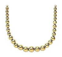 LoveBrightJewelry Beads Necklace Set with Graduated 10 MM to 5 MM Beads