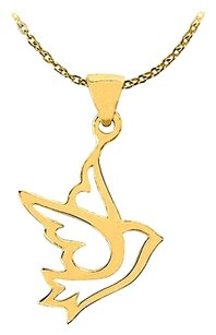 LoveBrightJewelry Beautiful Bird Pendant in 14K Yellow Gold Jewelry Gift Best Available Price Range Fab Design