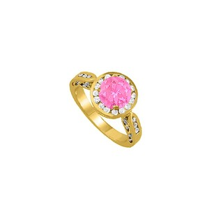LoveBrightJewelry Beautiful Gift Pink Sapphire And Cz Ring 1.75 Tgw