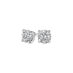 LoveBrightJewelry Brilliant Cut Natural Diamond Stud Earrings White Gold