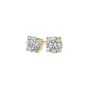 LoveBrightJewelry Classic Gift Natural Diamond Studs in 14K Yellow Gold
