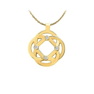 LoveBrightJewelry Conflict Free Diamond Pendant in 14K Yellow Gold Cool Jewelry Gift