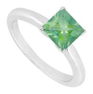 LoveBrightJewelry Created Emerald Ring 925 Sterling Silver 0.75 CT TGW