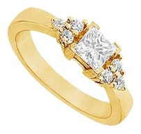 LoveBrightJewelry Cubic Zirconia Engagement Ring 18K Yellow Gold Vermeil 0.66 CT CZs