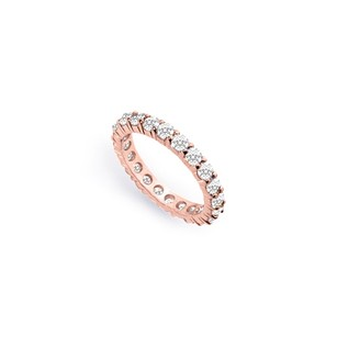 LoveBrightJewelry Cubic Zirconia Eternity Bands In 14k Rose Gold Vermeil 2 Ct Tgw Second And Third Wedding Anniver