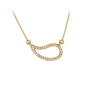 LoveBrightJewelry Cubic Zirconia Geometric Necklace Yellow Gold Vermeil