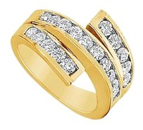 LoveBrightJewelry Cubic Zirconia Ring 14K Yellow Gold 1.00 CT Cubic Zirconia