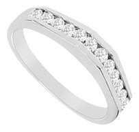 LoveBrightJewelry Cubic Zirconia Wedding Band Sterling Silver 0.33 CT CZs