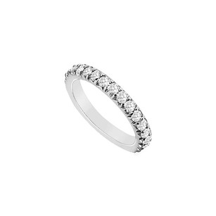LoveBrightJewelry Cubic Zirconia Wedding Band Sterling Silver 1.25 Ct Czs