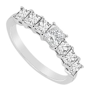 LoveBrightJewelry Cubic Zirconia Wedding Band Sterling Silver 2.50 CT CZs