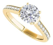 LoveBrightJewelry CZ Ring Styled in Yellow Gold Vermeil with Elegance