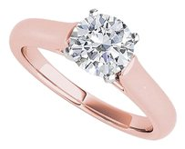 LoveBrightJewelry CZ Solitaire Engagement Ring 14K Rose Gold Vermeil