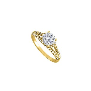 LoveBrightJewelry Cz Split Shank Ring 18k Yellow Gold Vermeil 1.5 Ct Tw