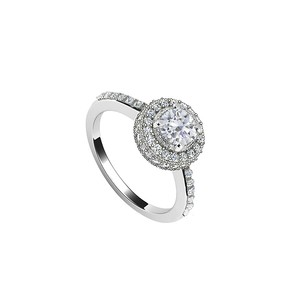 LoveBrightJewelry Diamond Engagement Ring Platinum 1.25 CT Diamonds