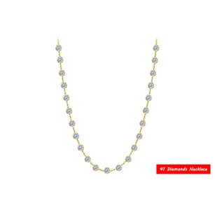 LoveBrightJewelry Diamonds by the Yard Necklace in 14K Yellow Gold 2.00 CT Total Diamond