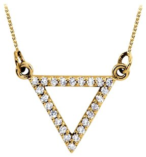 LoveBrightJewelry Elegant Cubic Zirconia Triangle Pendant in 18K Yellow Gold Vermeil Classy Design Best Price