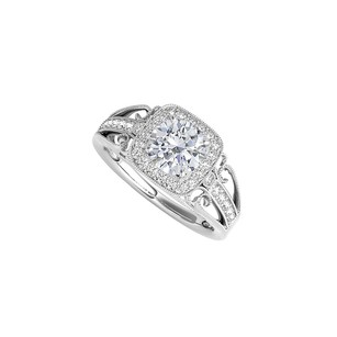 LoveBrightJewelry Filigree Design Ring in 925 Sterling Silver with CZ