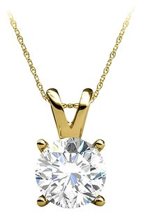 LoveBrightJewelry Free Gold Lobster Clasp Chain with Diamond Pendant