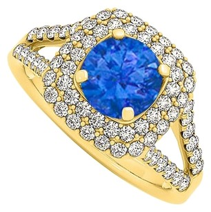 LoveBrightJewelry Fab Design Sapphire and Cubic Zirconia Ring 1.50 TGW