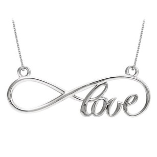 LoveBrightJewelry Gorgeous Love Pendant In 14k White Gold With Economical Price Range And Trendy Design