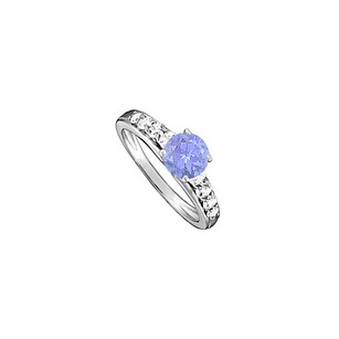 LoveBrightJewelry Gorgeous Tanzanite And Cubic Zirconia Ring 1.50 Tgw