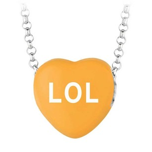 LoveBrightJewelry Lol Orange Heart Pendant Necklace Sweethearts Collection