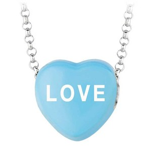 LoveBrightJewelry Love Blue Heart Pendant Necklace Sweethearts Collection