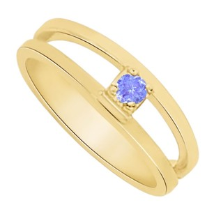 LoveBrightJewelry Lovely Tanzanite Mother Ring in 14K Yellow Gold