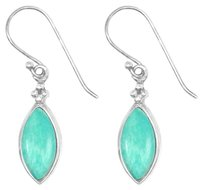 LoveBrightJewelry Marquise Amazonite Sterling Silver French Hook Earrings