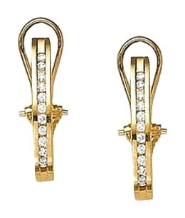 LoveBrightJewelry Modern Diamond Hoop Earrings for Women in 14K Yellow Gold 0.50 CT TDW