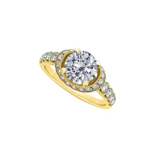 LoveBrightJewelry Nicely Crafted Cubic Zirconia Ring In 18k Yellow Gold Vermeil Economical Price Range Cool Design