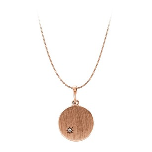 LoveBrightJewelry One Carat CZ Engravable Pendant in 14K Rose Gold