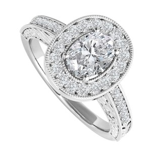 LoveBrightJewelry Oval Cz Engagement Ring Sterling Silver 2 Ct Tgw