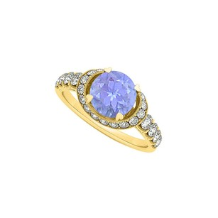 LoveBrightJewelry Perfect Gift Tanzanite And Cz Engagement Ring 1.00 Tgw