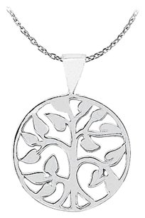 LoveBrightJewelry Pretty Gift Circle Pendant in 925 Sterling Silver