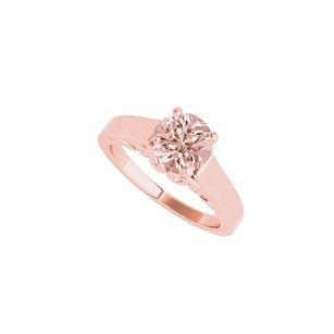 LoveBrightJewelry Round Morganite Solitaire Ring In 14k Rose Gold Vermeil