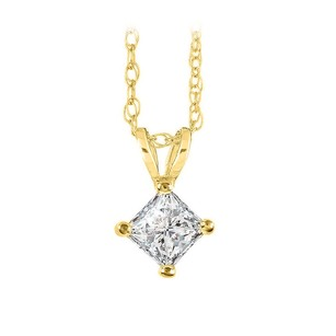 LoveBrightJewelry Sparkling Diamond Pendant 14k Yellow Gold With Chain