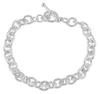 LoveBrightJewelry Sterling Silver Cable 5.5 Inch Bracelet with Toggle Clasp Perfect Jewelry for All Occasions