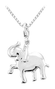 LoveBrightJewelry Sterling Silver Charming Animal Elephant Charm Pendant